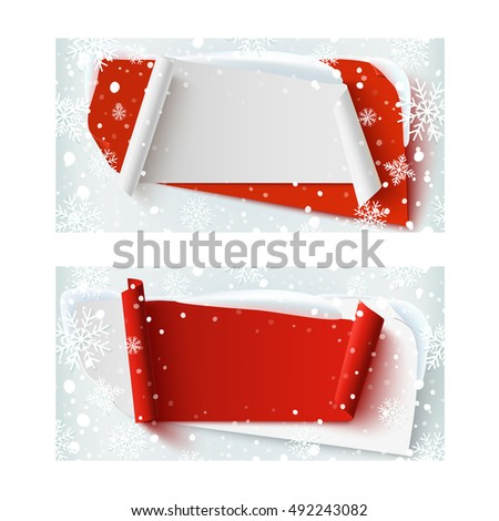 Gift Voucher Template Red Ribbon Bow Stock Vector 240294997