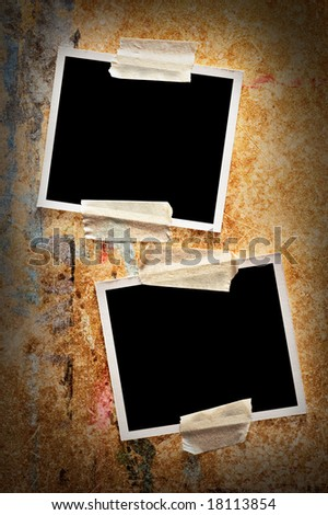 Two blank  frames - stock photo