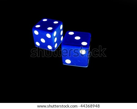 Two Blue Dice - stock photo
