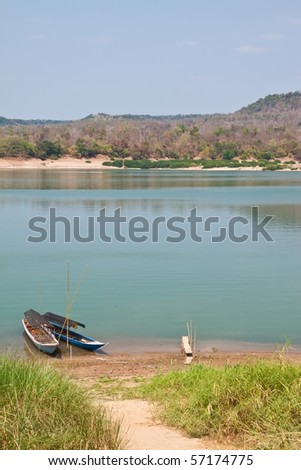 two boats in river - stock photo