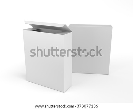 two box products on white