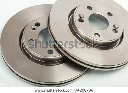 Two brake disk for the car - stock photo