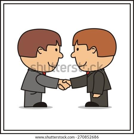 two businessman, handshake - stock photo