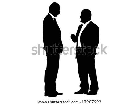 two businessmen - stock photo