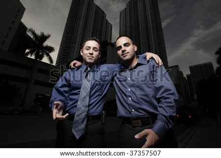 Two businessmen friends