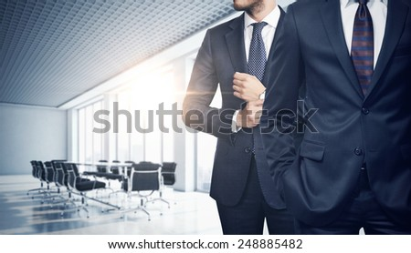 Two businessmen in office - stock photo