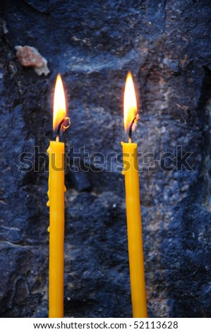 two candles - stock photo