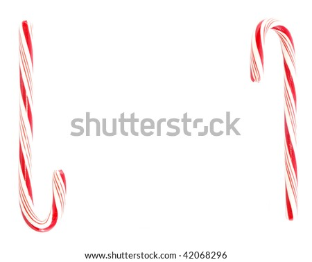 Two candy canes with space for text