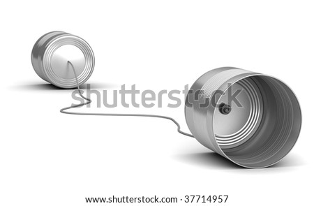 Two cans - stock photo