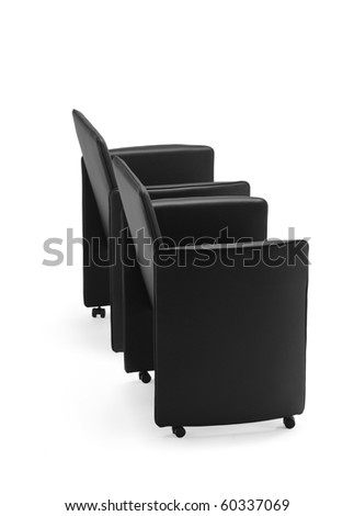 Two chairs isolated against white background - stock photo