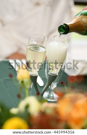 Two champagne  - stock photo