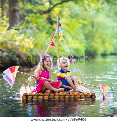 Wooden raft stock images royalty free images vectors for Fish catching games