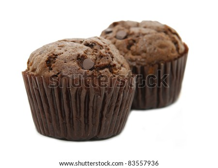 two chocolate muffin