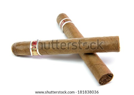 Two cigar - stock photo