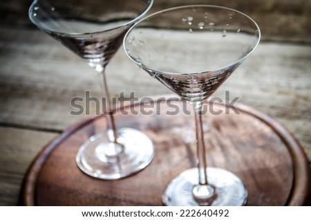 Two cocktail glasses - stock photo