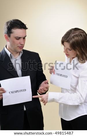 two colleagues communicating - stock photo