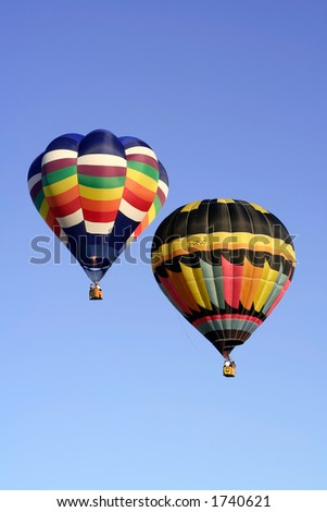 Two colorful air balloons