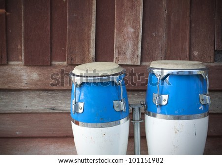 two congas - stock photo