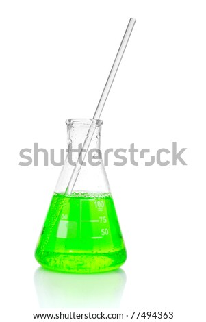 Two conical flask isolated on white