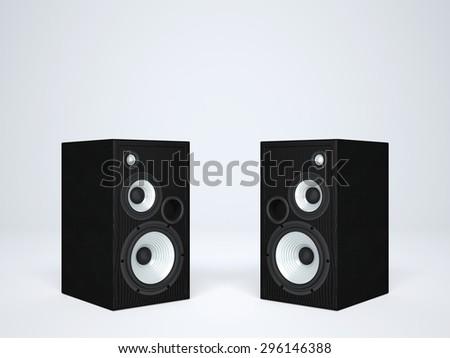 Two Cool Audio Speakers Stock Illustration 296146388 - Shutterstock
