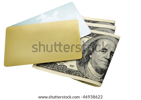 two credit card on the background dollar