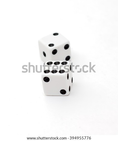 Two dice on a white background