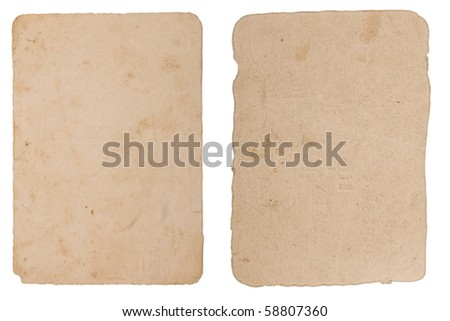 two different shape of texture, grunge, ancient paper with age marks