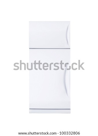 two door freezer - stock photo