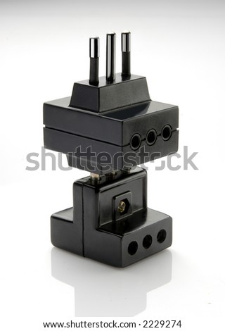 two electric plugs