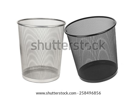 two empty trashes - stock photo