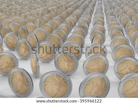 Two Euro - stock photo