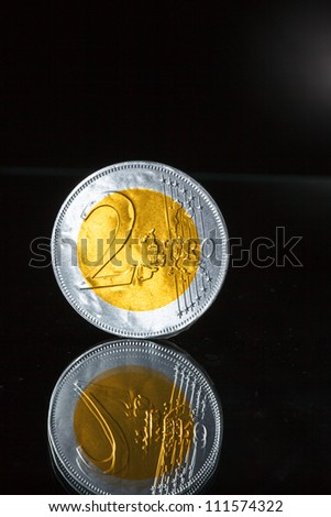 Two euro coin - stock photo
