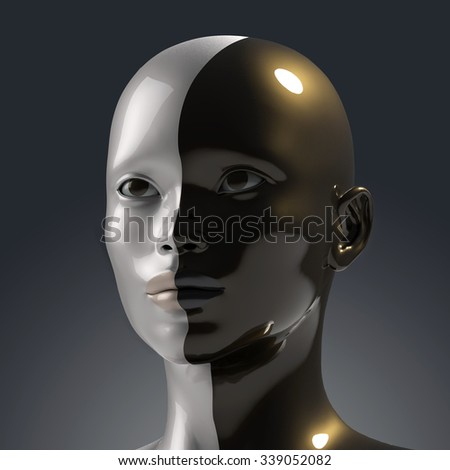 two faces in one - stock photo