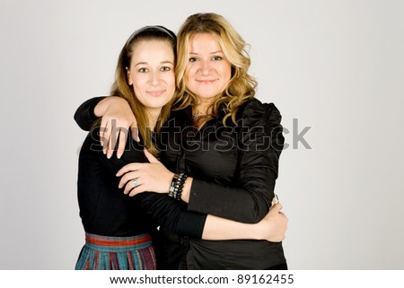 Two female friends - stock photo