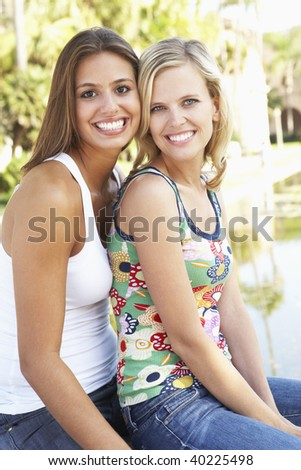 Two Female Friends Having Fun Together