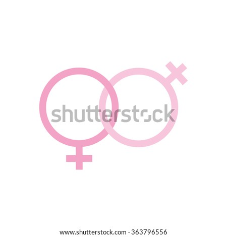 two females gender signs sexual symbols valentines day - stock photo