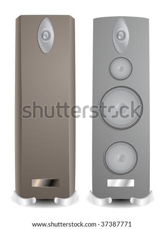 Modern Hifi two fictitious modern hifi speakers stock illustration 37387771