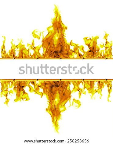 two flames with space for text