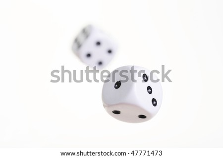 two flying dices