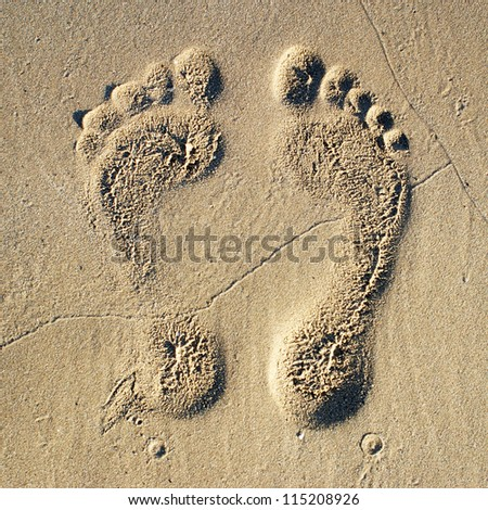 Two Footprints in sand