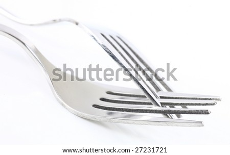 Two Fork isolated on white background