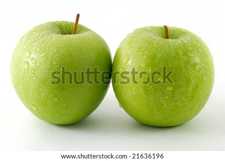 Two fresh apples