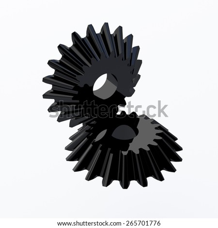 two gears - stock photo