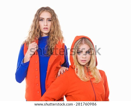 Two girl friends  - stock photo
