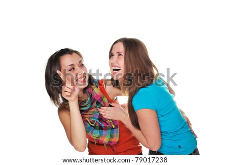 two girls - stock photo