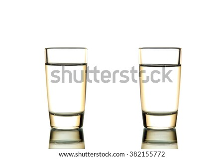 Two glass is isolated on a white background