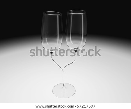 Two Glasses In One - stock photo