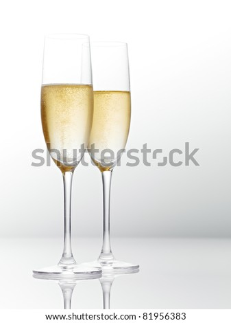 Two glasses of champagne. - stock photo