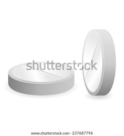 Two grey tablets isolated on white background