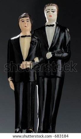 two guys in wedding suits - stock photo